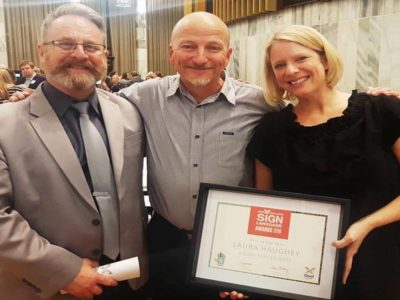 Photo: So proud to win an 'NZSL in Arts' award at Parliament!