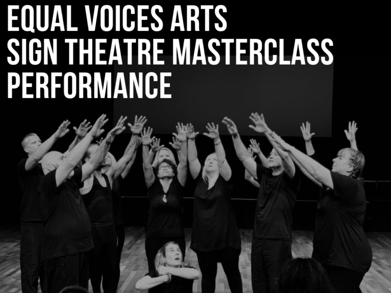 Photo: Sign Theatre Masterclass Aotearoa Performance 2019
