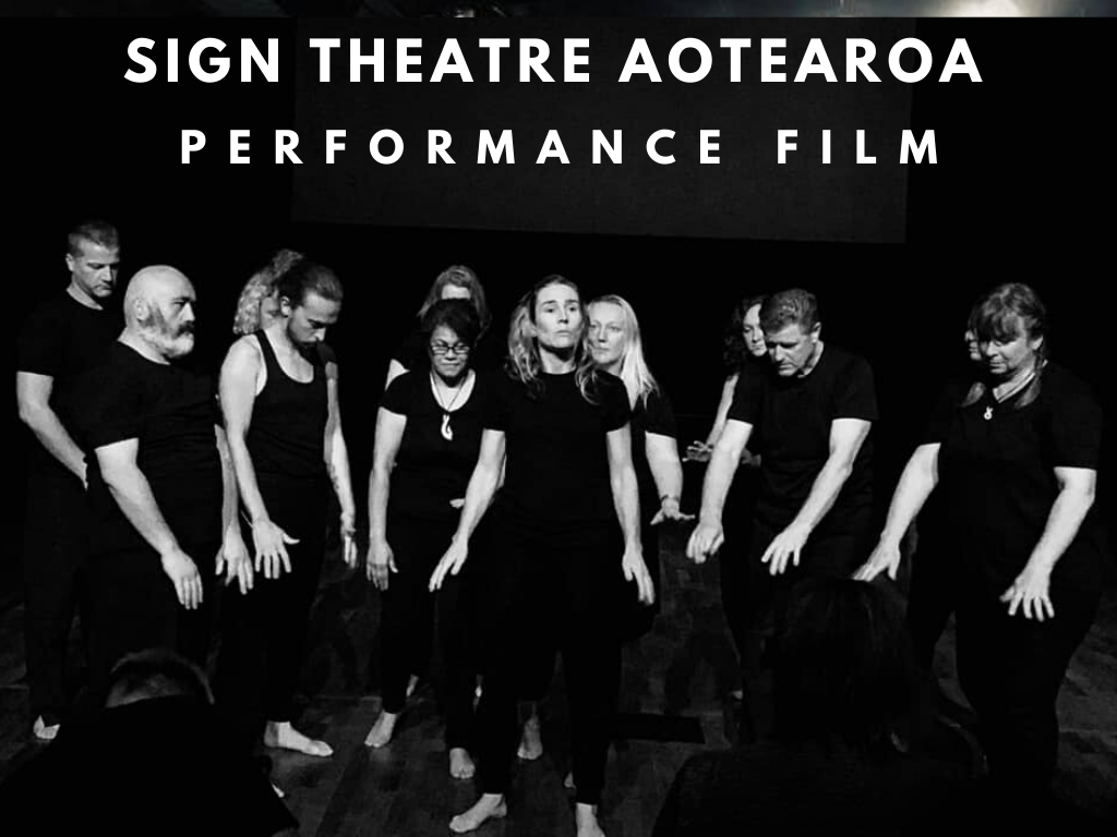 Photo: Sign Theatre Aotearoa Masterclass Performance Film