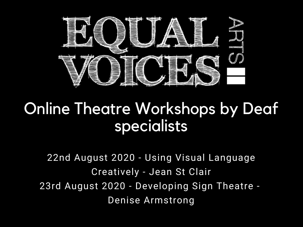 Photo: Online Sign Theatre Workshops with International Deaf Theatre Specialists.